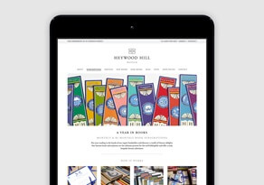 Heywood Hill year in books subscription page on an iPad